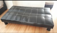 FREE DELIVERY TODAY ONLY - BLACK LEATHER FUTON - GREAT CONDITION Toronto, M1E