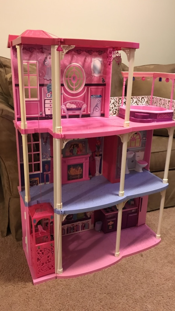 Used Barbie 3 Story Dream Townhouse House Perfect Condition For