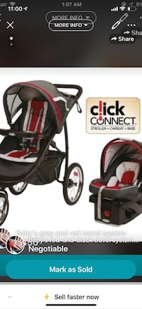 baby's black and red car seat carrier Toronto, M1G 3T2