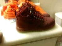 pair of brown leather high top sneakers Orlando, 32811