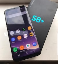 Black samsung galaxy s8 + with box Mississauga, L5M
