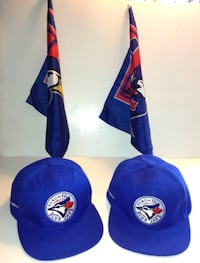 Toronto Blue Jays Set of Two Caps and Two Stick Flags