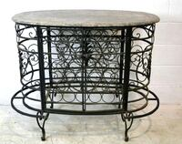 Marble top rot iron and wine cabinet Sioux Falls, 57103