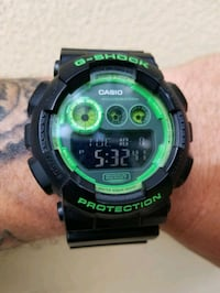 Black and green G shock  North Highlands, 95660