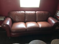 Red leather sofa  Canyon Lake, 92587