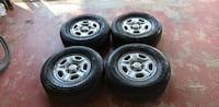four gray 5-spoke car wheels with tires Valley Center, 92082