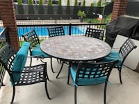 Cast iron patio set / table with 6 chairs Montréal, H9C