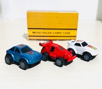 VTG Micro Racer Carry Case 3 Cars 1988 Soma Micro Machines Toys