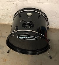 "Black Bass drum 16"" diameter for drum set"