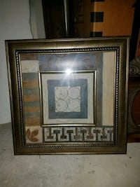 brown wooden framed painting of white flower Beaumont
