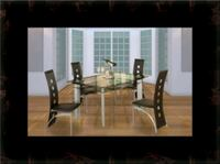 Glass dining table with 4 chairs Alexandria, 22305