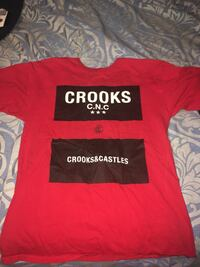 Red crooks and castles t shirt 1305 km