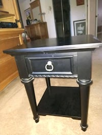 black and gray wooden side table San Diego, 92128