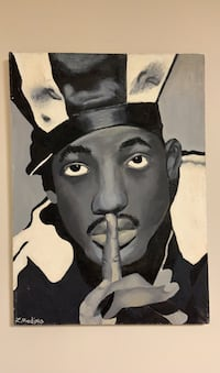 Oil Painting Will Smith black&white Los Angeles, 90028