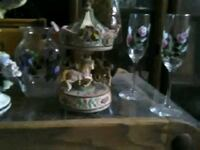 Hand painted glasses and matching jar . Carousel   Tucson, 85711
