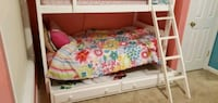 White  Bunk Bed with Dresser and Chest