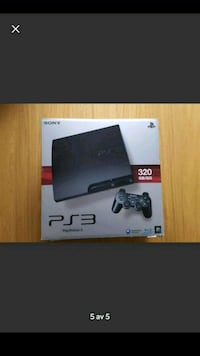 svart Sony PS3 Slim box Väster, 216 25