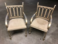 2 gold steal chairs take both Charlotte, 28202