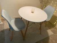 Mid century modern small dining table and chairs.