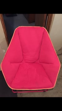 Pink fabric padded chair - clean - gently used. Need gone. Champlin, 55316