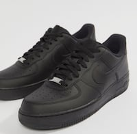 par sorte Nike Air Force 1 lave sko Oslo, 0598