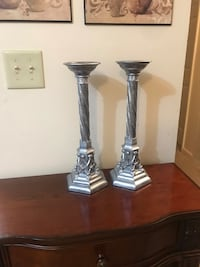 Silver candlestick (2) Purcellville, 20132