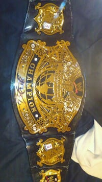 Signed WWE championship belt Washington
