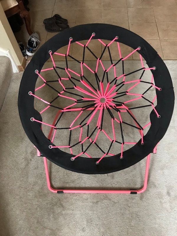 Incredible Pink Black Bungee Chair Gmtry Best Dining Table And Chair Ideas Images Gmtryco