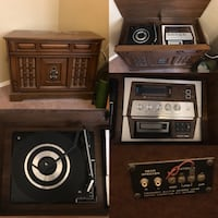 brown record cabinet collage