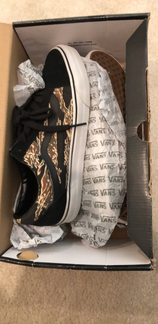 b689d5c912 Used Suede tiger camo black vans. Old skool for sale in Morgan Hill ...