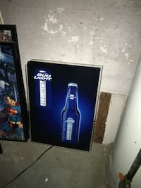 Blue and black bud light platinum poster New Hyde Park, 11040