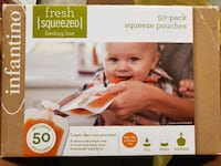 50 Pack Baby Fresh Squeezed Food Pouches Washington, 20019