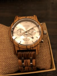 Beautiful chronograph zebrawood watch Nanaimo, V9T 2S5