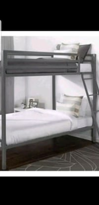 black and gray metal bunk bed Katy, 77450