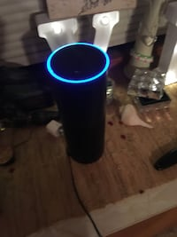 Black amazon alexa home device