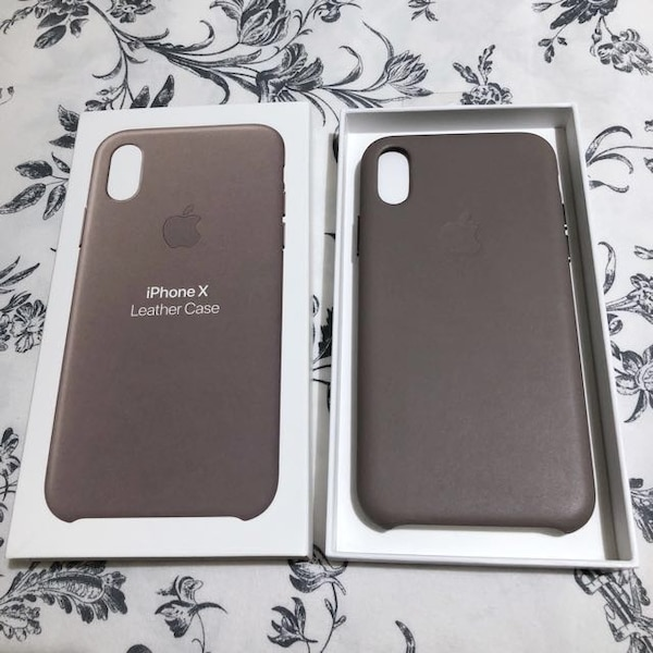 71a5774b8419 Used Apple iPhone X Leather Case - Taupe Color for sale in Goleta - letgo