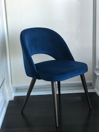 BRAND NEW Blue Velvet Accent Chair