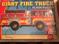Melissa & Doug Giant Fire Truck floor puzzle NEW 36 mi