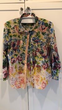 white, green, and pink floral cardigan Denver, 80209