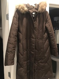 Perry Ellis brown winter coat - knee length (Size S but fits like a M) Ottawa, K1T 3L7