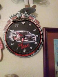 round black, red, and white Dale Earnhardt frame a