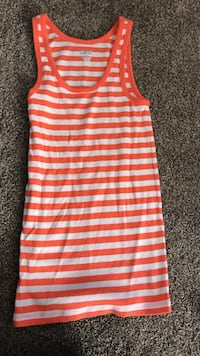 Red and white stripe tank top