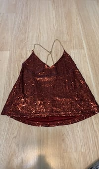 Maroon Sequenced Top Donna, 78537