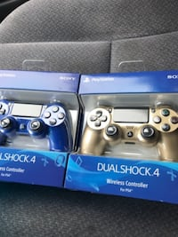 Wavy Blue & Gold  Sony PS4 controllers Cheney