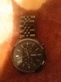 Fossil black-colored analog watch Toronto