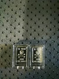 2 1 gram 999 silver bars in cas with   Coral Springs, 33067