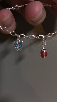 Sterling silver enamel charm choice of one