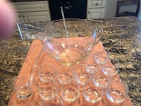 clear cut glass punch bowl set Chadds Ford, 19317