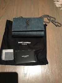 black and gray leather wristlet Vaughan, L4H 1A8