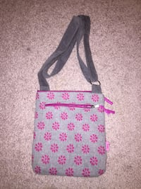 Grey with pink flowers purse  Kingsville, N9Y 4G4
